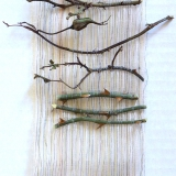 Rose Canes Woven in Silk