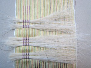 horsehair in weaving, detail