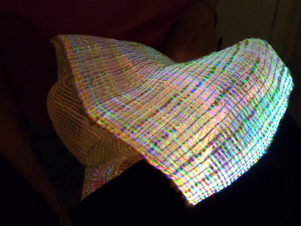 Weaving with LED Fiber Optics