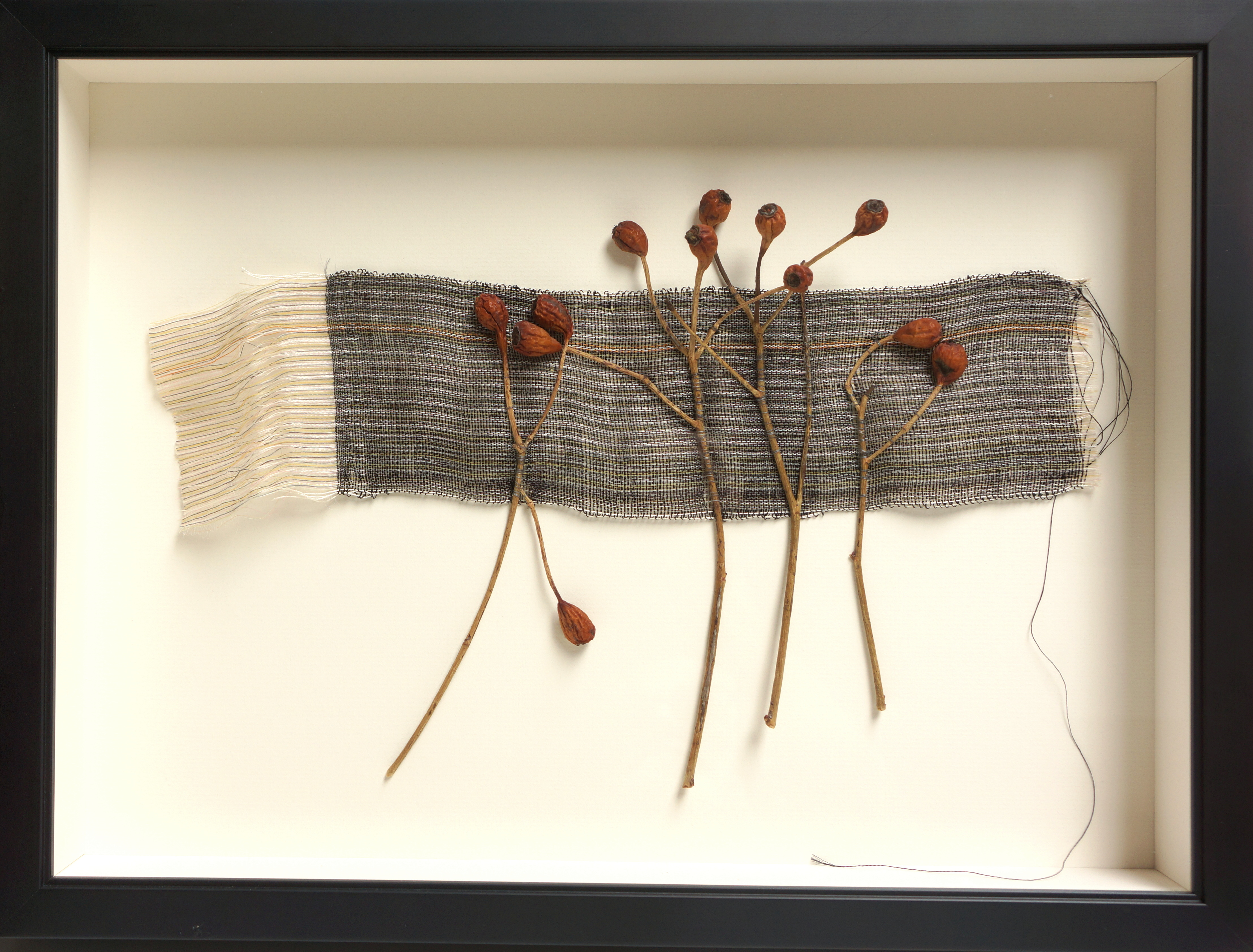 Weaving with Rose Hips #2 - Peggy Osterkamp > click to enlarge