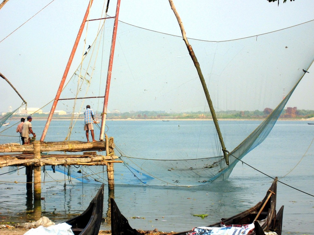 7.3 fishing boat, fish in net