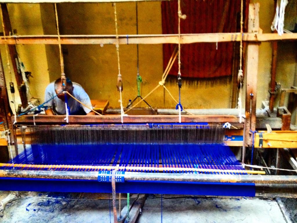 weaver blue warp