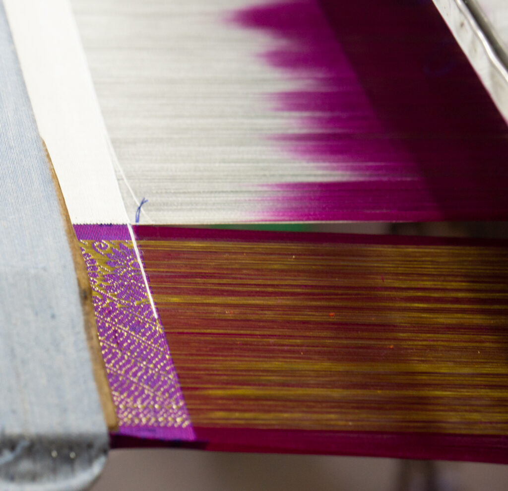 Hard Maple 6 34 Wide Rigid Heddle Frame for 2 Segments